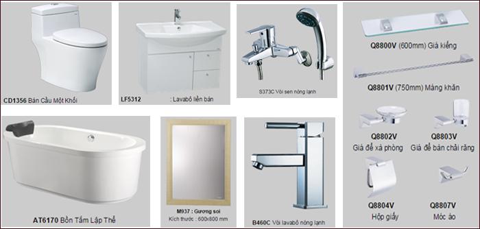 bồn cầu Caesar 1 khối cho nhà tắm nhỏ hẹp